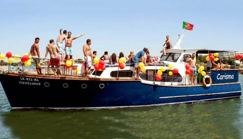 party boat, BBQ & beers