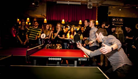 ping pong in london stag party activity 1