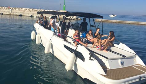 luxury speed boat trip in split stag party activity 1