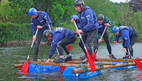 raft building in  stag party activity 1