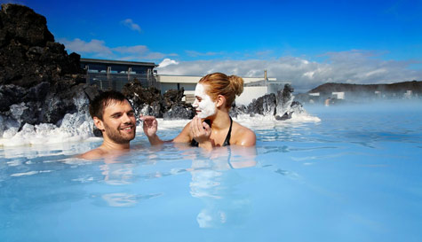 blue lagoon in reykjavik stag party activity 1