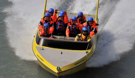 river jet boat in reykjavik stag party activity 1