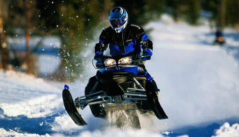 snowmobiles in  stag party activity 1