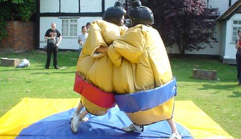 sumo wrestling in  stag party activity 1