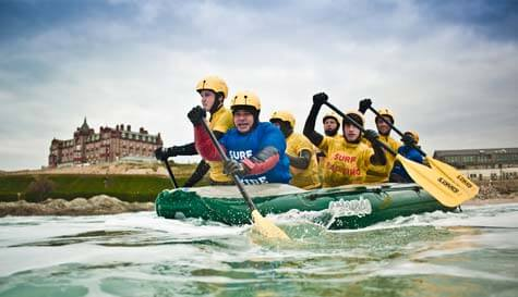 surf rafting in  stag party activity 1