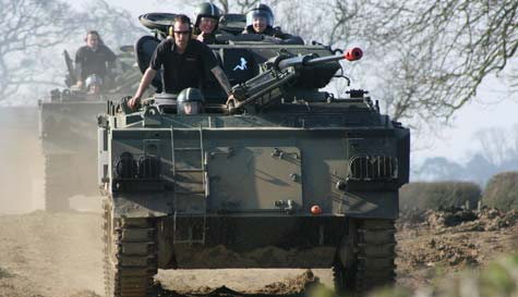 tank driving in vilnius stag party activity 1
