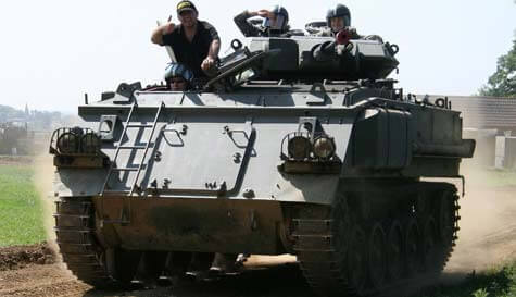 tank driving in birmingham stag party activity 1