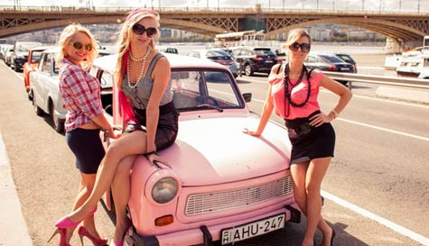 trabant rally in budapest stag party activity 1
