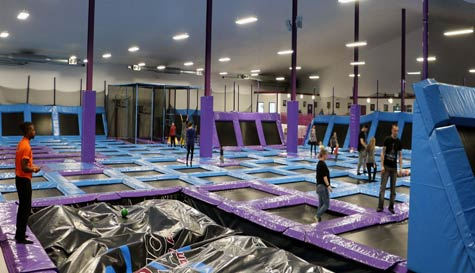 trampoline park in  stag party activity 1