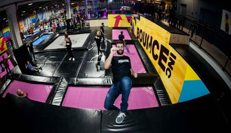 trampoline park in lisbon stag party activity 1