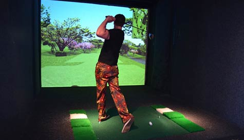 VIP Golf Simulator in manchester stag party activity 1