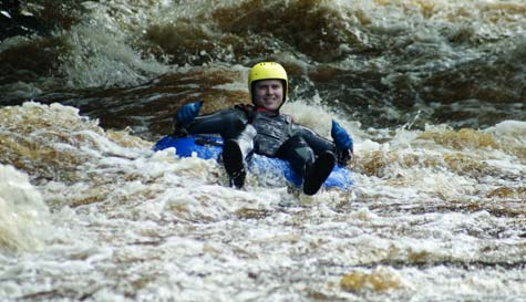 white water tubing in chester stag party activity 1