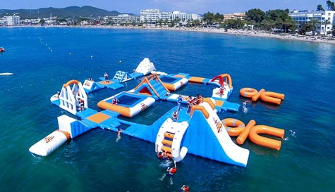 water wipeout in ibiza stag party activity 1