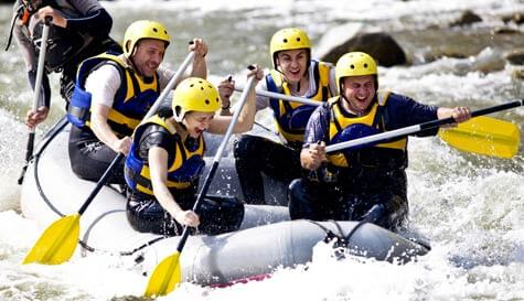 whitewater rafting in krakow stag party activity 1
