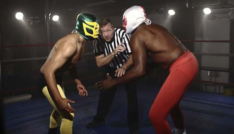 wrestling school action for your group stag party