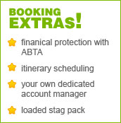 StagWeb booking extras