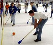 broomball for your group stag party