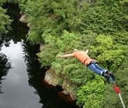 bungee jumping action on your stag weekend party