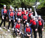 canyoning action on your stag weekend