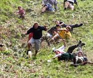 cheese rolling action on your stag party weekend