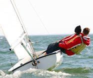 dinghy sailing for your group stag party