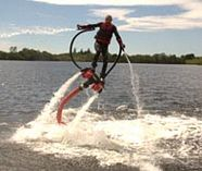 extreme water jetpack action on your stag weekend party
