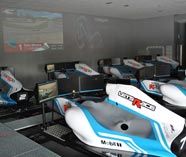 F1 simulator action for your stag party