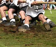 highland games on your stag group party