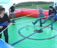 human table football action for your group stag weekend