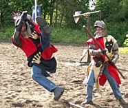 medieval jousting action for your stag party