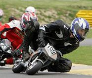 mini moto racing action for your stag party