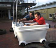 motorised bath tubs action for your stag weekend