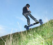 mountain boarding action for your group stag party