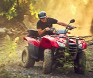 quad bike action for your group stag party