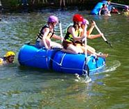 raft building on your stag weekend