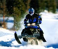 snow mobiles and action for your stag weekend