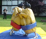 sumo wrestling action for your group stag party