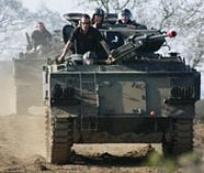 tank driving action for your stag weekend