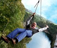zip wire action for your group stag party