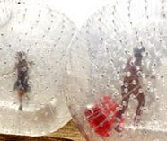 zorbing action for your stag weekend party