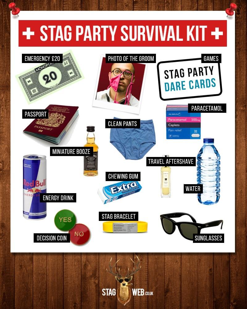 StagWeb's Stag Party Survival Kit