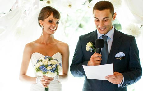Delivering your wedding speech