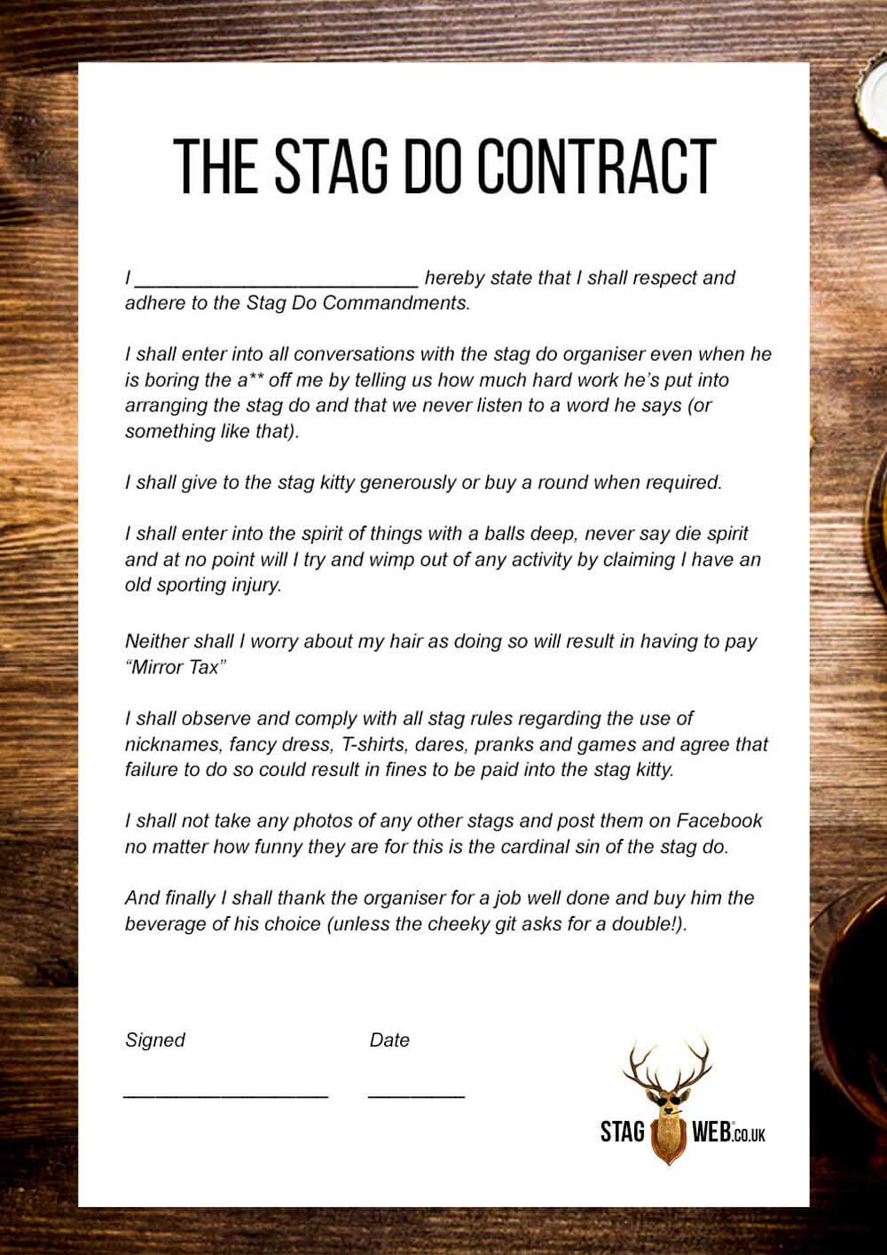 best holiday photo card ideas - Stag Do Rules – Gentlemen thou shalt not