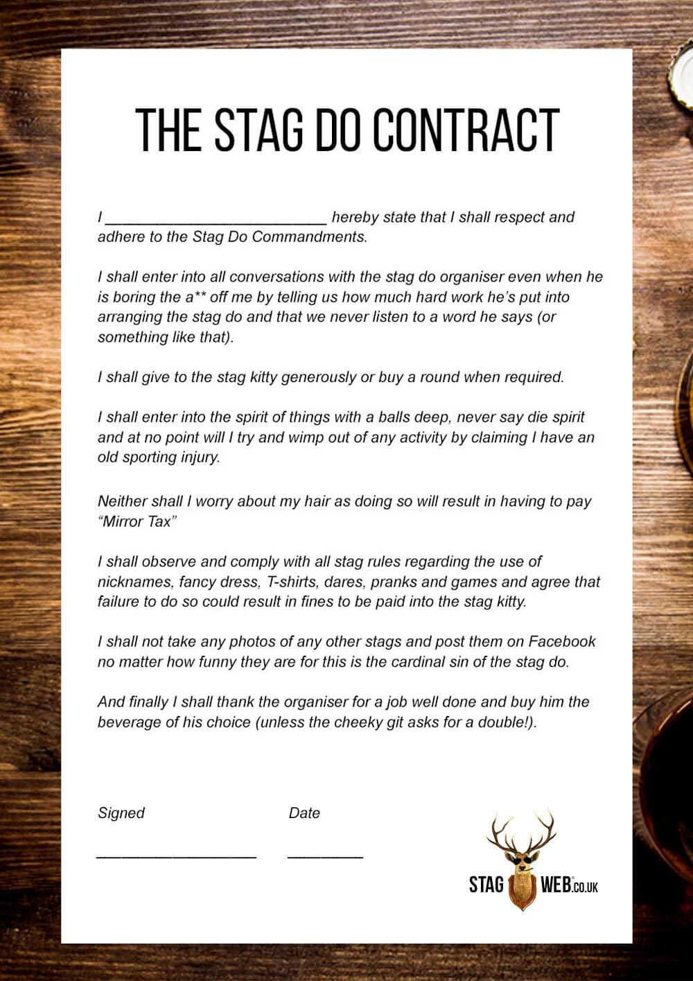 stag do rules  u2013 gentlemen thou shalt not