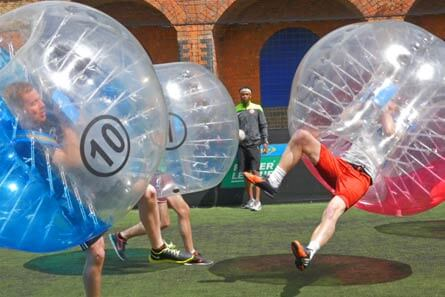 Bubble football activity in the UK