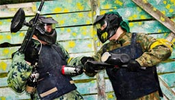 Paintball stag prank