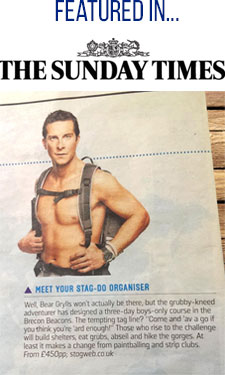 Bear Grylls featured in Sunday Times