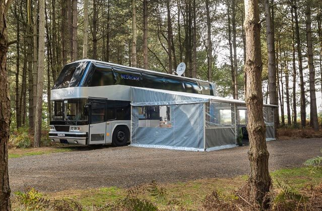 Luxury Glamping Bus